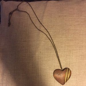 Vintage wooden heart necklace